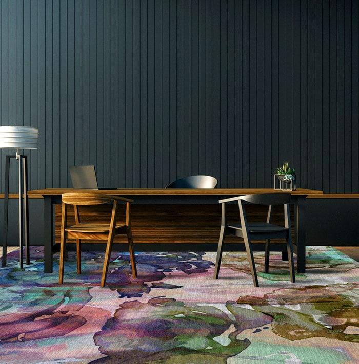 watercolor carpet
